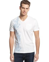 Tommy Hilfiger Big and Tall Vneck Beach Front Graphic Tshirt - Lyst