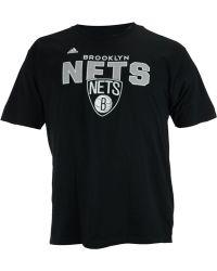 Adidas Men'S Short-Sleeve Brooklyn Nets Straight To The Hoop T-Shirt - Lyst