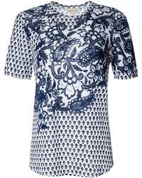 Rebecca Taylor Short Sleeve Paisley-Print Tee - Lyst