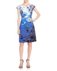 Kay Unger | Printed Jacquard Dress | Lyst