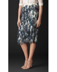 Burberry Dip-dye Silk Petal Pencil Skirt - Lyst