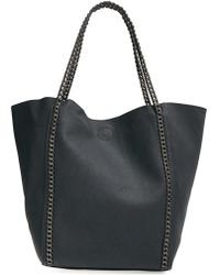 Phase 3 - Chain Faux Leather Tote - Lyst