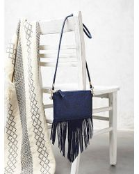 Free People Tooled Wallet blue - Lyst