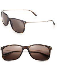 Giorgio Armani 57Mm Acetate Rectangle Sunglasses gray - Lyst