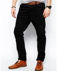 Nudie jeans Nudie Chinos Khaki Slim Fit Organic Twill in Black for ...