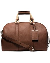 Michael Kors Bennett Pebbled-Leather Medium Duffel - Lyst