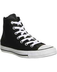 Converse Chuck Taylor All Star Trainers With Back Zip - Lyst