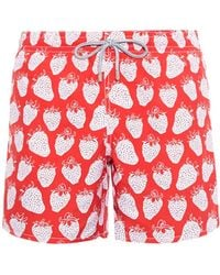 Vilebrequin Moorea Strawberry-Print Swim Shorts red - Lyst