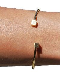 Bungalow 20 | Gold Square Open Bangle | Lyst