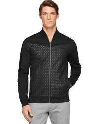 Calvin Klein Ponte Bomber Jacket - Lyst