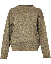 Isabel Marant Wal Metallic Knit Sweater - Lyst
