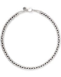 Philippe Audibert 'Ethan' Rope Chain Choker Necklace silver - Lyst