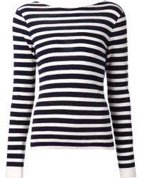 Rag & Bone 'Linda Cowlback' Striped Sweater - Lyst