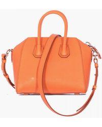 """Givenchy Orange Hammered Leather """"Antigona"""" Mini Bag orange - Lyst"""