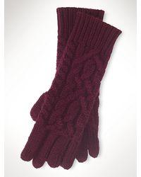 Ralph Lauren Black Label Aran-Knit Cashmere Gloves - Lyst