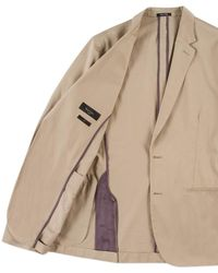Paul Smith | Men's Tailored-fit Taupe Cotton Blazer | Lyst