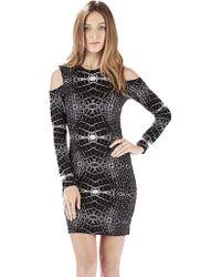 Parker Duffy Cut Out Shoulder Mini Dress In Falcor black - Lyst
