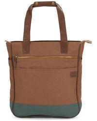 Original Penguin - Leather-trimmed Tote Bag - Lyst