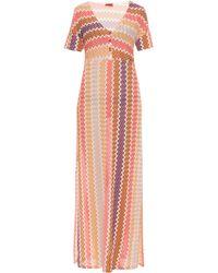 Missoni Zigzag Multicoloured Long Dress - Lyst