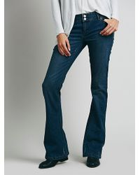Free People 5 Pocket Skinny Flare - Lyst