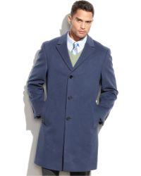 Calvin Klein | Coat Solid Plaza Cashmere-blend Overcoat | Lyst