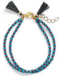 Shashi - Raj Bracelet Pearl - Lyst
