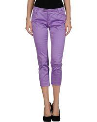 Gucci Purple 3/4-Length Short - Lyst