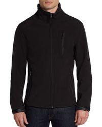 Calvin Klein Zip Front Soft Shell Jacket - Lyst