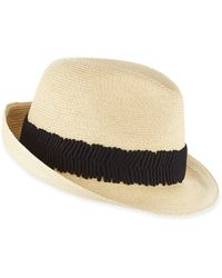 Eugenia Kim Max Wide Ruched Ribbon Hat - Lyst