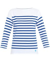 Orcival - Breton-Striped Cotton Top - Lyst