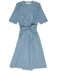 La Robe - Rose Voile Dress In Teal - Lyst