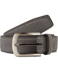 Barneys New York Stitched Suede Belt gray - Lyst