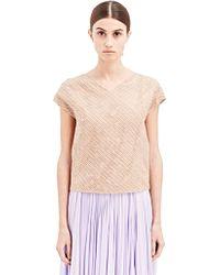 Vionnet Womens Interlaced Silk Top - Lyst