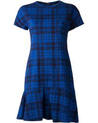 Jil Sander Tartan Print Dress - Lyst