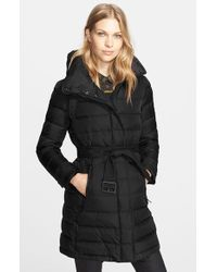 Burberry Brit 'Winterleigh' Hooded Down Coat - Lyst