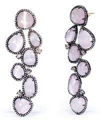 Ralph Lauren Pink Diamondquartz Earrings - Lyst