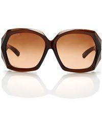 Swarovski Be My Lady Brown Xl Square Sunglasses - Lyst