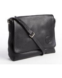 Gucci Black Leather Medium Messenger Bag - Lyst