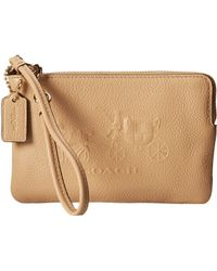 Coach Embossed Horse and Carriage Sm L-zip Wristlet - Lyst