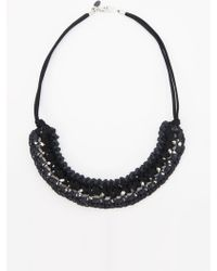 Nicole Miller - Andrea Bocchio Crochet Chain Necklace - Lyst