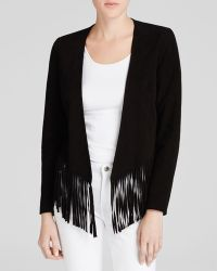 Moon & Meadow - Fringed Suede Jacket - Lyst