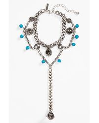 Topshop Etched Hand Chain - Lyst