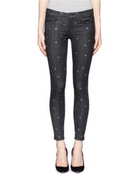 Current/Elliott The Stiletto Star Print Washed Jeans - Lyst
