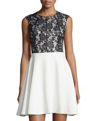 Mark + James by Badgley Mischka Lace A-Line Cocktail Dress - Lyst