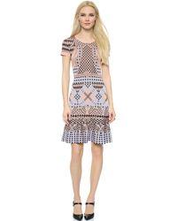 Temperley London Reef Knit Dress - Pink/Blue - Lyst