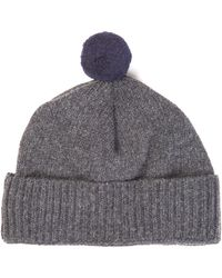 c5a859748ec Oliver Spencer - Wool-knit Beanie Hat - Lyst