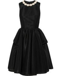 Simone Rocha Faux Pearl-embellished Scuba-mesh Dress - Lyst