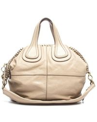 Givenchy Pre-owned Beige Calfskin Ring Detail Nightingale Bag - Lyst