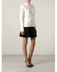 Carven Braided Effect Ribbed Turtle Neck Sweater - Lyst