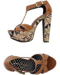 Jessica Simpson Beige Sandals - Lyst
